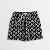 Girls' needle-cord skirt in thistle print