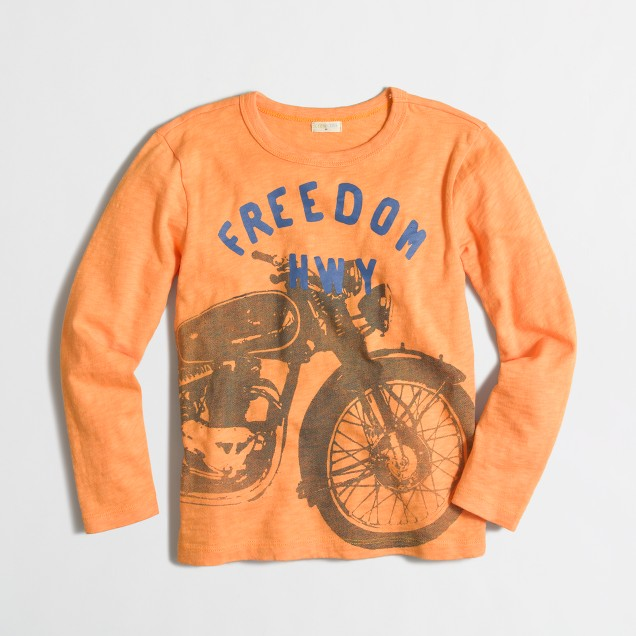Boys' long-sleeve freedom highway storybook T-shirt