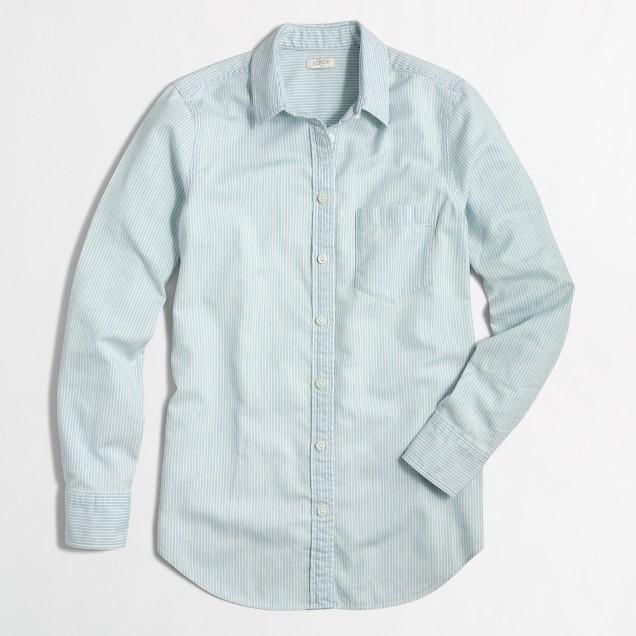 Striped chambray shirt