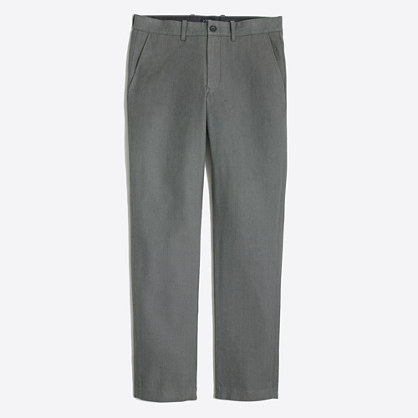 Herringbone cotton Sutton pant