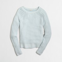 Tuck-knit boatneck sweater