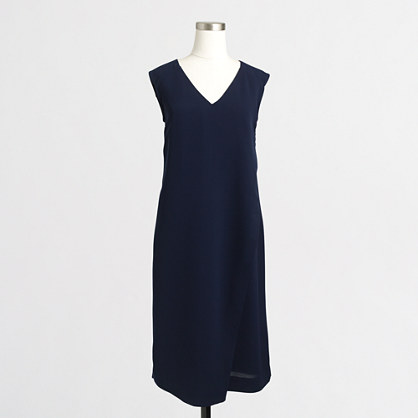 Wrap-front V-neck dress