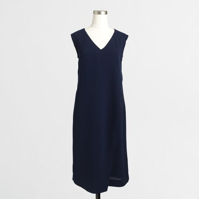 Wrap-front V-neck dress