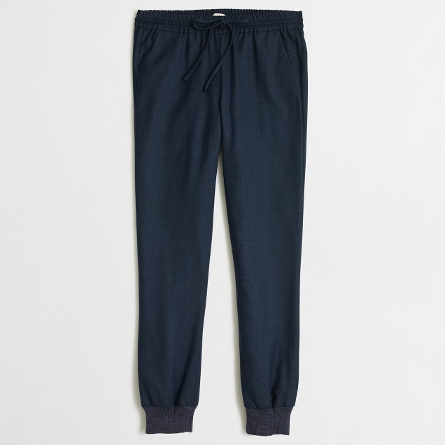 Relaxed wool sweatpant