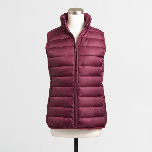 Channeled puffer vest
