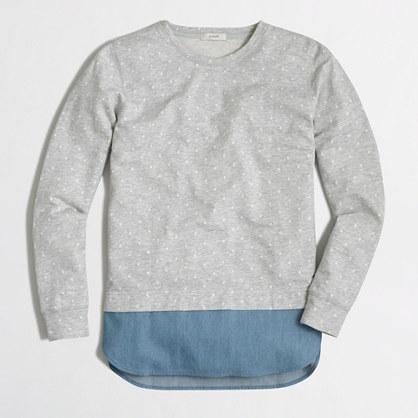 Dotted chambray sweatshirt