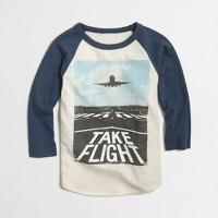 Boys' glow-in-the-dark take flight baseball storybook T-shirt