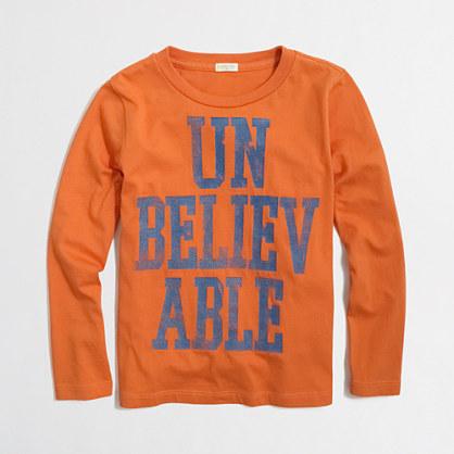 Boys' long-sleeve glow-in-the-dark unbelievable storybook T-shirt