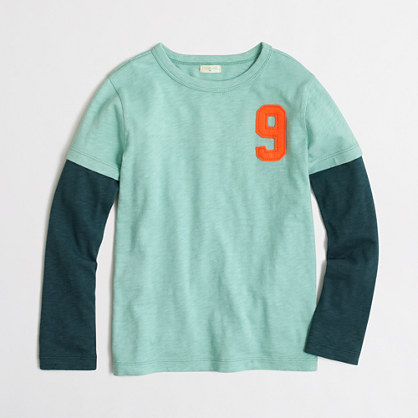 Boys' long-sleeve #9 storybook T-shirt
