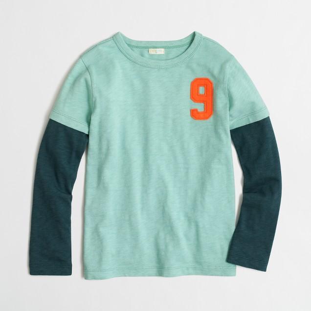 Boys' long-sleeve #9 storybook T-shirt