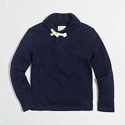 Boys' shawl-collar popover sweatshirt