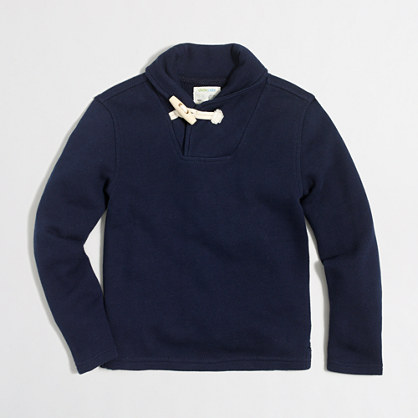 Boys' shawl-collar popover sweatshirt