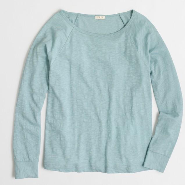 Long-sleeve cuffed T-shirt