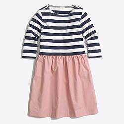 Girls' striped-skirt dress
