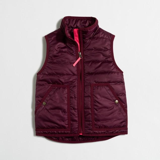 Girls' puffer vest