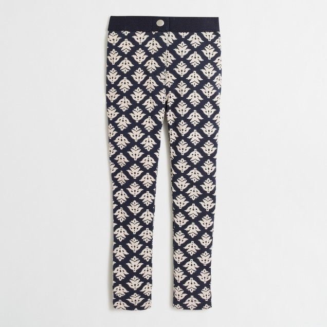 Girls' Gigi pant in thistle print