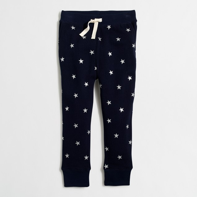 Girls' glitter star sweatpant