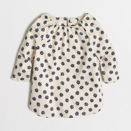 Girls' printed poplin tunic