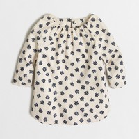 Girls' printed poplin tunic