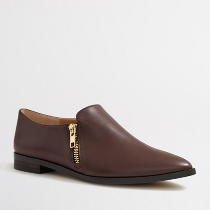 Double-zip loafers