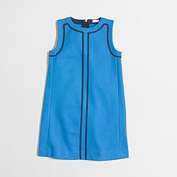Factory girls' contrast-trim shift dress