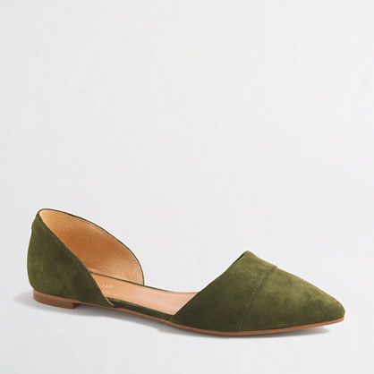 Suede d'Orsay flats