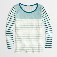Colorblock striped T-shirt