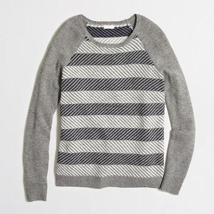 Intarsia zigzag sweater