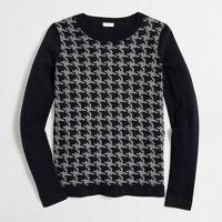 Houndstooth crewneck sweater