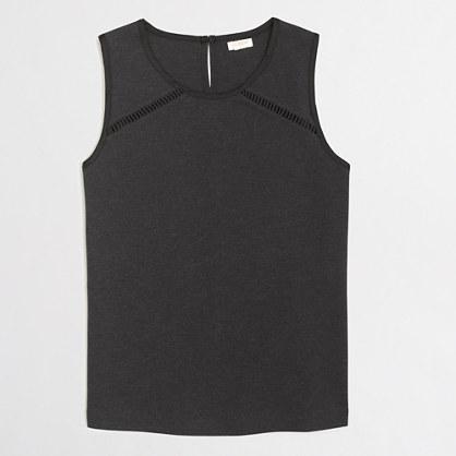 Stitched-hem sleeveless top