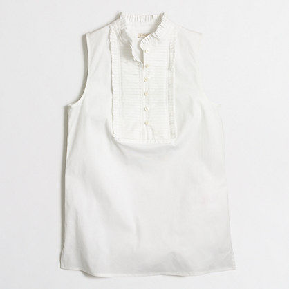 Sleeveless pleated bib top