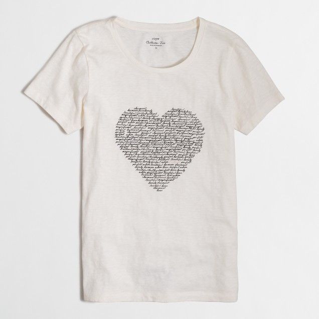 Heart of words collector T-shirt in airy cotton