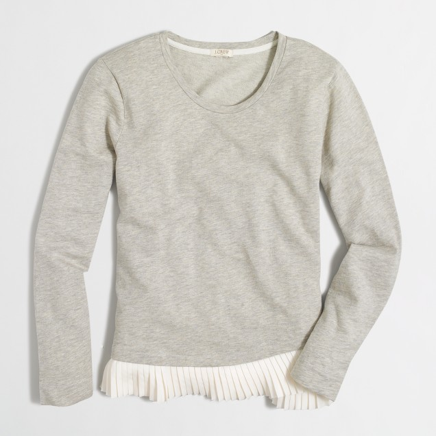 Ruffle-hem sweatshirt