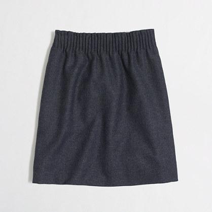Pleated mini skirt in herringbone