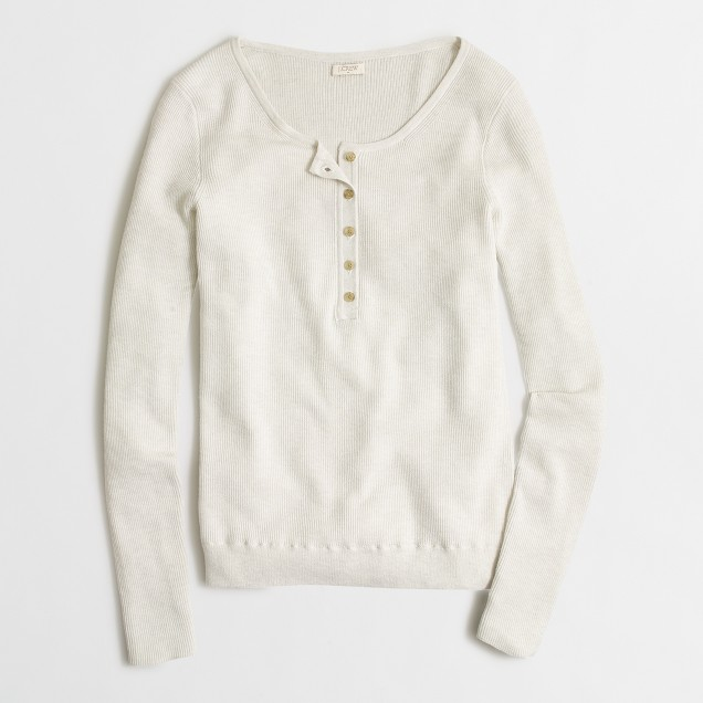 Ribbed sweater henley
