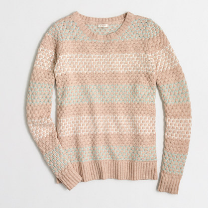 Striped honeycomb-stitch sweater
