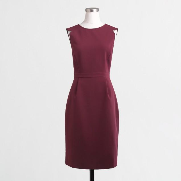 Petite sleeveless fitted dress