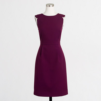 Petite sleeveless fitted dress