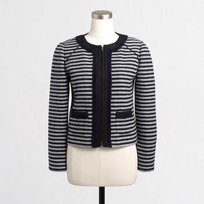 Striped tweed cropped jacket