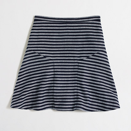 Striped tweed flounce skirt