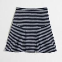 Striped tweed flounce skirt