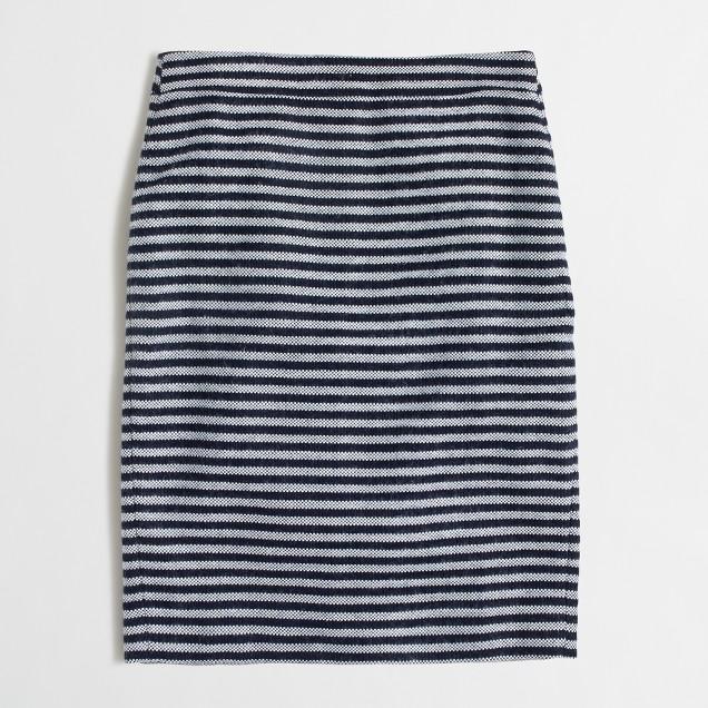Striped tweed pencil skirt