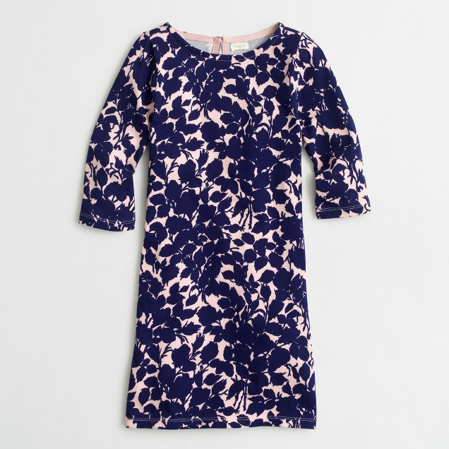 Girls' printed shift dress