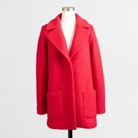 Textured bouclé coat