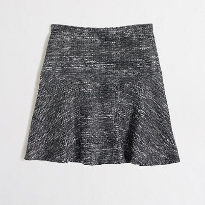 Flared skirt in tweed