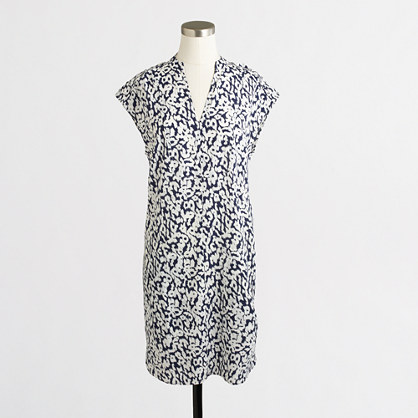 Printed pocket shift dress