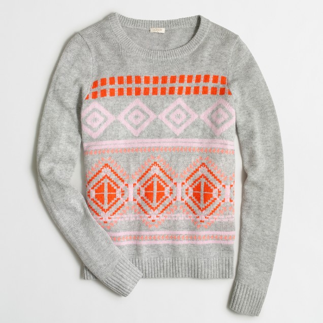 Geometric Fair Isle sweater