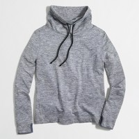 Heathered tunnelneck pullover sweatshirt