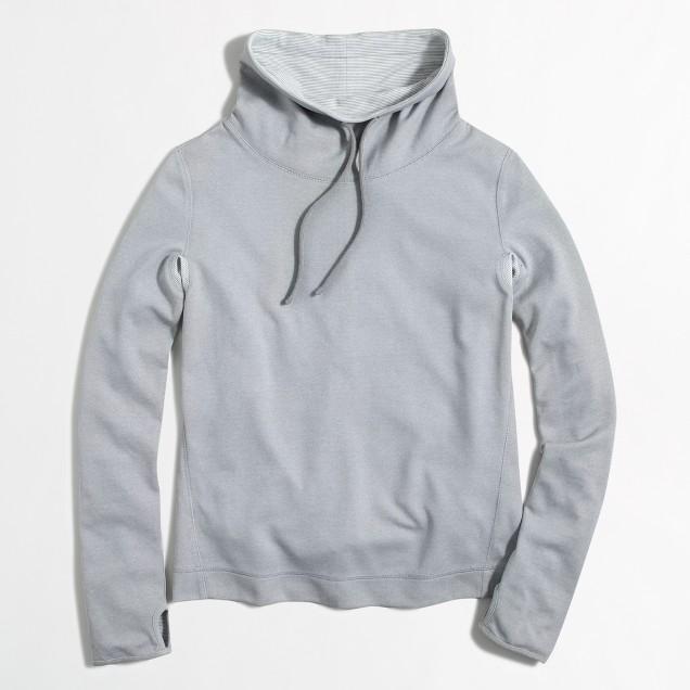 Tunnelneck pullover sweatshirt
