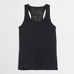 Factory mesh insert tank top